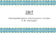 Звіт Немішаївського селищного голови С.В. Замідри