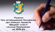 """Положення про проведення конкурсу """"Бюджет участі"""" на 2020 рік"""